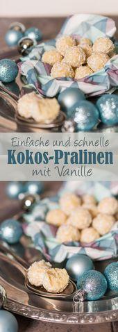 Simple coconut-vanilla-pralines / Easy coco pralines with vanilla