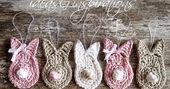 Ich habe mich frisch verliebt!     Frisch verliebt in diese kleinen Hasen.     A… – Wolle