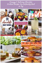 So creamy, so delicious, these chocolate cocktail recipes are sure to please! Wi…