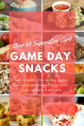 Over 40 Low Carb Game Day Snacks. Keep your healthy lifestyle on track with this…