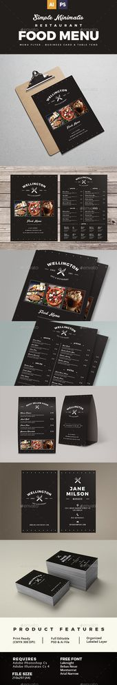 Pizza menu design A4 size and flyer layout template Restaurant - restarunt brochure