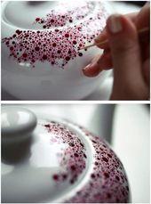 Malen Sie eine Teekanne aus Porzellan – 20 der schönsten DIY-Küchenprojekte, die Sie