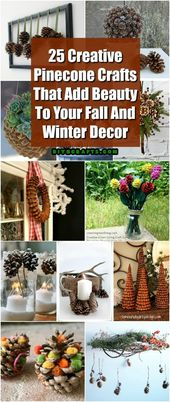 25 creative crafts by Pinecone, which give beauty to your autumn and winter decor …
