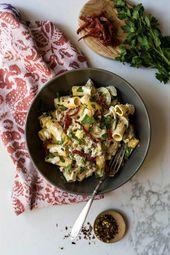 Pâtes crémeuses au fenouil et aux saucisses italiennes – K comme Katrine   – Pâtes