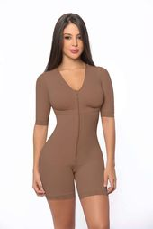 Full body mid thigh faja with sleeves – Contour Fajas