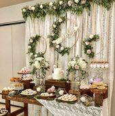 Mesa de postres para boda   – Wedding reception