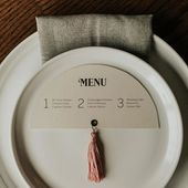 Mid-century modern wedding menus for all of you fa…