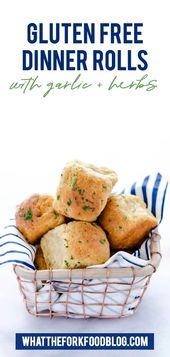 Gluten Free Rolls with Garlic and Herbs