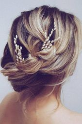 48 Short Wedding Hairstyle Ideas So Good You'd Want To Cut Your Hair ❤ wedding hairstyle ideas for short hair elegant simple with pearly updo hairby...