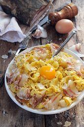Feu vif et pâtes carbonara … Parce que les plats les plus simples peuvent aussi révéler des découvertes!   – ~ F O O D ~