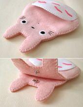 Totoro mein Nachbar Big Cute Kawaii Pink von craftingwithlove