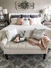 45 best farmhouse bedding decor ideas and remodel 43 | lingoistica.com