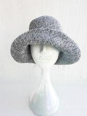 Baumwolle Sonnenhut Womens Bucket packable Hut Floppy Strand Hut für große Kopf Krempe Hüte  – Products