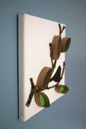 Basteln mit Klopapierrollen: Ideen für ein Klopapierrollen-Bild – Lavendelblog