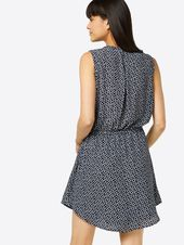 GAP Kurzes Kleid Damen, Blau, Größe 40