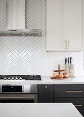 Herringbone subway tile. Kitchens – Tim Ouyang Des…