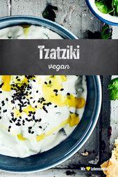 Veganes Tzatziki  – Dips & Saucen