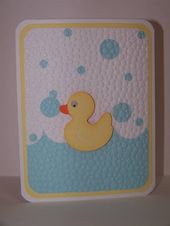 Baby Cards handmade Baby Card:  embedded embossing by ladybugtwin  ... luv the big dot embo...