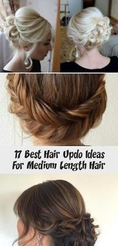 17 Best Hair Updo Ideas For Medium Length Hair – Pinokyo #Updo #WeddingUpdo #Cur…
