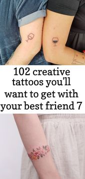 102 creative tattoos you'll want to get with your best friend 7