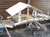 Troncos de abedul blanco Christmas Birdhouse de Birkendoc disponibles en …   – Birke – auch Outdoor