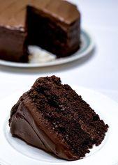 Hausgemachte Schokoladenkuchen Rezept – #