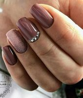 55+ idées de manucure à la mode en automne Nail Colours; Ongles violets; Manucure; Autumn Nai