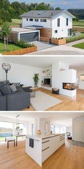 Modernes Einfamilienhaus mit Garage & Satteldach Architektur, Grundriss offen mi