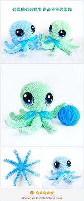 Häkeln Sie Oktopus Muster, Amigurumi Muster, häkeln Meerestiere Muster