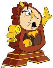 Cogsworth Die Uhr Aus Die Schone Und Das Biest Disney Die Schone Und Das Biest Cartoon Zeichnungen Das Biest