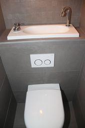 idéal pour un WC étroit et petit : un wc suspendu avec le lave main intégré …