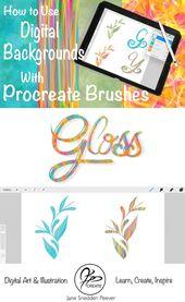 Using Digital Backgrounds with Procreate Brushes – JSPCREATE