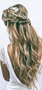 Hochzeitsfrisuren für lange Haare für neue Bräute