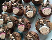 Muffins de caballo: la guinda del pastel en la fiesta de cumpleaños del caballo   – Lustige Cupcakes