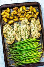 267d37c6117e7d2140d51fa97a52c9ed This Sheet Pan Chicken and Asparagus with lemony potatoes is an easy, delicious ...