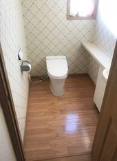 スタイリッシュなイメージになりました たつの市 T様邸 トイレ改装工事 費用 40万円 工期 3日 リフォーム 改装 アット