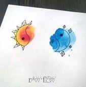 Tattoo-Ideen für Paare Sun Moon Best Friends 53+ Ideen für 2019 – Tattoo ideas