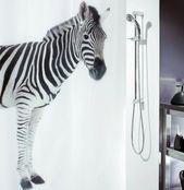 Duschvorhang »ZEBRA BLACK«, antibakteriell und wasserabweisend   – Products