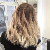 Blonde fegen #hair #balayage # like4like – # Check more at s2.diydecors.onli… – Bunte Hair Diy
