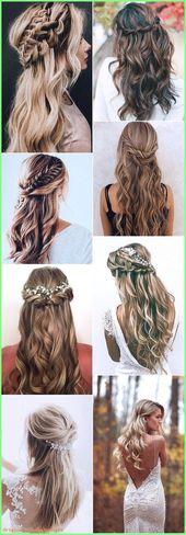 Prom Frisuren 2019 – trending half up half down wedding hairstyles #weddinghairs…