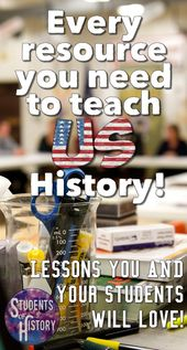 American Historical past actions for Center Faculty! Nice classes and tasks for ev…
