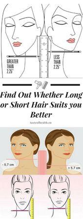 Finden Sie heraus, ob langes oder kurzes Haar besser zu Ihnen passt –   – Clothing ideas