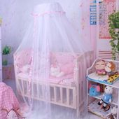 Kids Bedding Decor Anti Insect Mosquito Net Round Lace Canopy Netting Curtain Dome  – Products