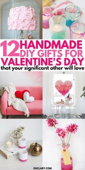 12 DIY Valentines Day Gifts That Don't Look DIY   – Gifts for Him – Ideas – Gudi…
