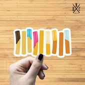 Churros Vinyl Sticker, Best Friend Gift, Cute Stickers, Food Decal, Macbook Decal, Stickers Macbook