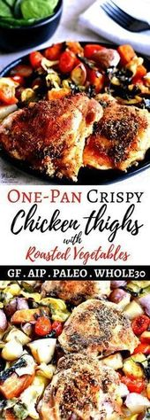 Crispy Chicken Thighs One-Pan Meal {Gluten-Free, Paleo, Whole30, AIP}