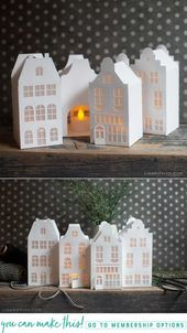How To Make Paper Canal Houses For Christmas Lia Griffith Scandinavian Christmas Decorations Christmas Diy Christmas Decorations