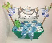 Windel Kuchen Boy Flower Pot Geschenk für Geburt Taufe Baby Shower   – Basteln