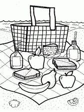 Picnic Basket Coloring Page – picnic