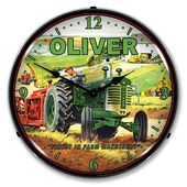 Antique Style Oliver Tractor Led Lighted Etsy Oliver Tractors Farm Tractor Clock